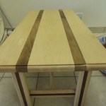 The Jared beech and walnut coffee table