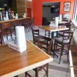 Hooters bar, tables and chairs