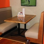 Hooters benches and tables